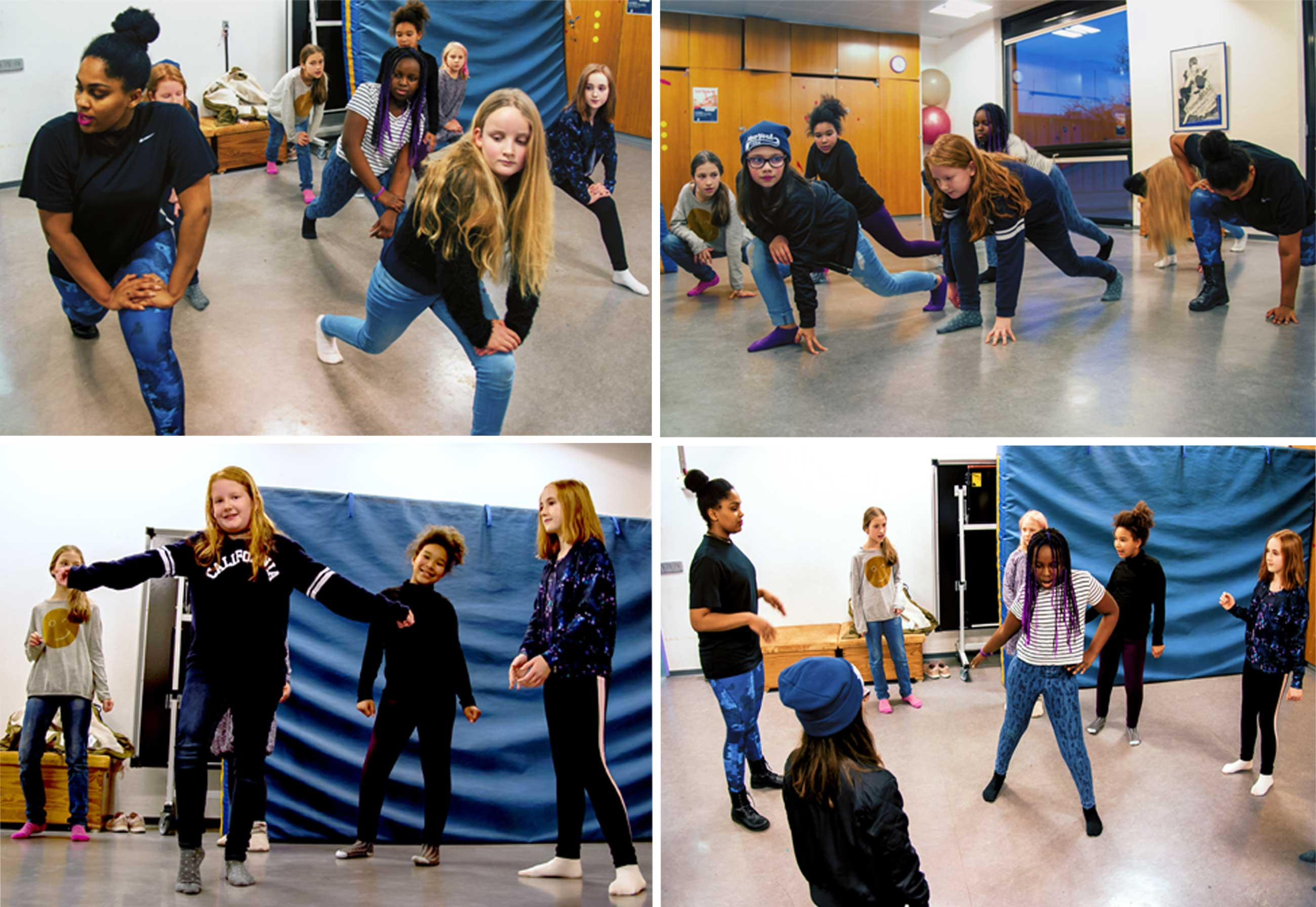 Mädchen*beim Tanzen im M*Z. Foto von L.Vandrei
