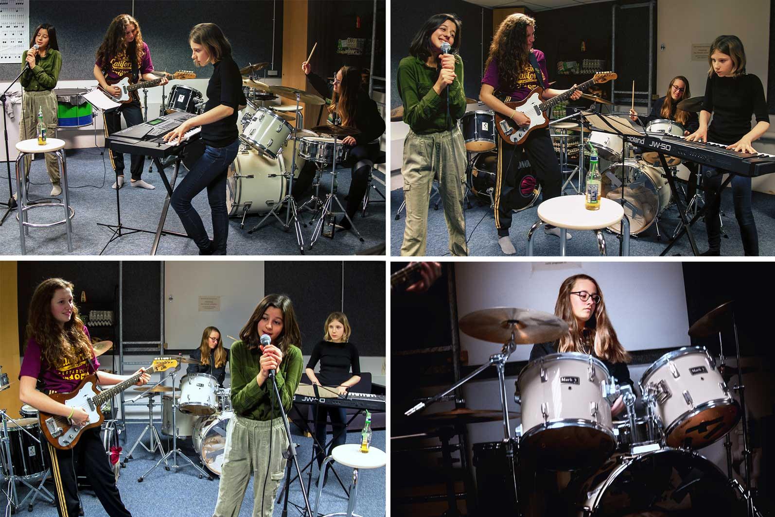 Mädchen* Bands. Das M*Z verfügt über einen Proberaum. Foto von L.Vandrei
